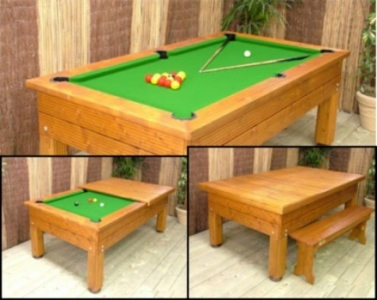 Bwl 7ft Evergreen Outdoor Pool Table Dining Top