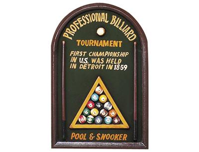 3D Hand Carved and Painted - Pro Billiard