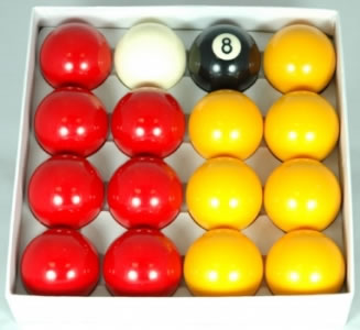 Pool Balls 2in Reds And Yellows Pool Balls Sbp Ry2