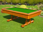 BWL 8ft Classic Outdoor Pool Table + Dining Top + Benches