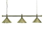 3-Shade Brass Lighting Bar and Brass Shades
