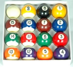2in Spots and Stripes Pool Balls